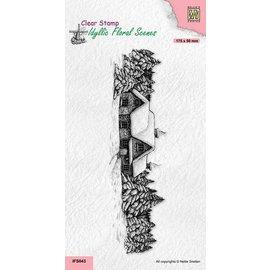 Nellie Snellen Stempelmotief, sneeuwhuis, IFS043, 175x50mm