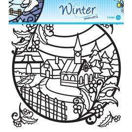 Winter peel-off stickers, format 20 x 20 cm