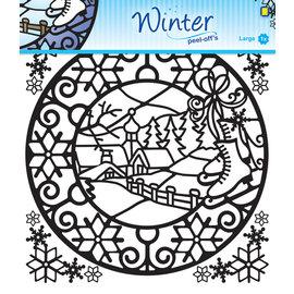 Winter peel-offs sticker