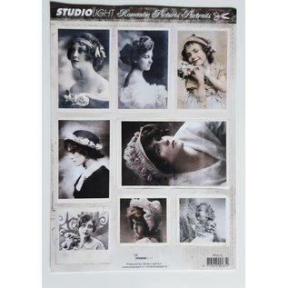 Studio Light A4 stansvel met 8 romantische portretten