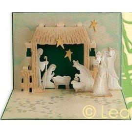 Leane Stanzschablonen Set, Popup-Karte gestalten, Krippe Weihnachten