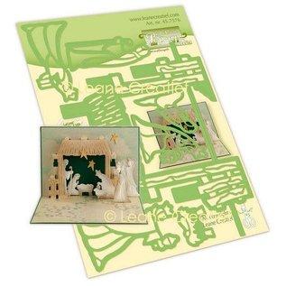 Leane Cutting die kit, design popup card, Nativity scene