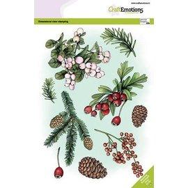 Craftemotions Stempelmotieven, transparant, formaat A5, 9 motieven, kerst,