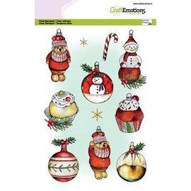 Craftemotions Stamp motifs, transparent, format A5, 9 motifs, Christmas,