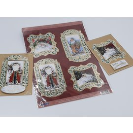 Die cut sheet, deLuxe, with noble gold frame, Christmas,