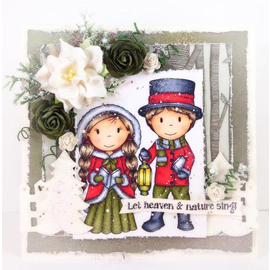 Stamp motif, Christmas, rubber stamp, format 10 x 8.5 cm
