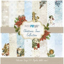 Motif paper, 30.5 x 30.5cm, Christmas Time Collection, 10 printed on both sides,