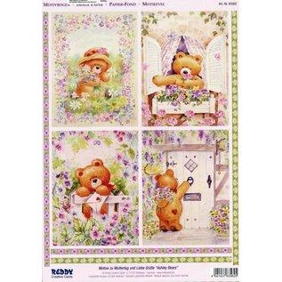 Bilder, 3D Bilder und ausgestanzte Teile usw... A4 Die cut 3D + 1 background sheets: Bears