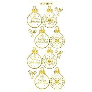 STICKER / AUTOCOLLANT VERLAAGD! reliëf decoratieve stickers, kerstbaletiketten