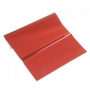 BASTELZUBEHÖR, WERKZEUG UND AUFBEWAHRUNG Metallic foil, 200 x 300 mm, 1 sheet, red