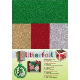 Karten und Scrapbooking Papier, Papier blöcke NEDSATT! Glitterfolie, ultrafin