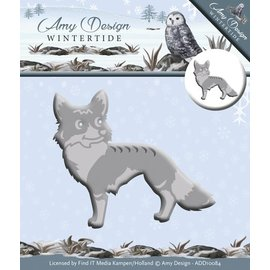 AMY DESIGN AMY DESIGN, Ponsen en embossing sjabloon: Wintertide, Fox