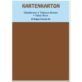 Karten und Scrapbooking Papier, Papier blöcke Card stock A4 tobacco brown,