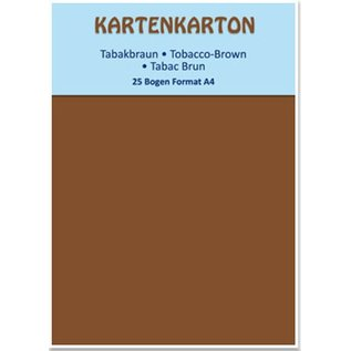 Karten und Scrapbooking Papier, Papier blöcke Karton A4 tabak bruin,