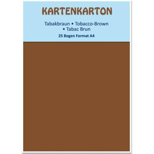 Karten und Scrapbooking Papier, Papier blöcke Card stock A4 brun tabac,