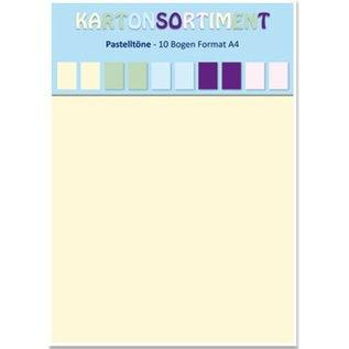 Karten und Scrapbooking Papier, Papier blöcke Card stock A4, pastels