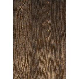 Karten und Scrapbooking Papier, Papier blöcke Embossed paper Metallic: wood