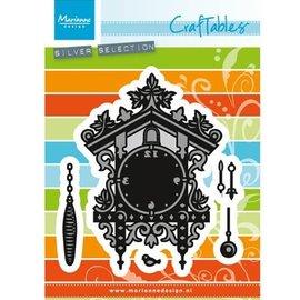 Marianne Design Troquelado y estampado en relieve plantilla: Reloj de cuco