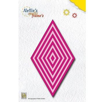 Nellie Snellen Ponsen en embossing sjablonen: multiframe Deze diamant