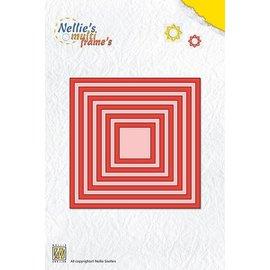 Nellie Snellen Snij en embossing sjablonen: Multi Frame vierhoeken