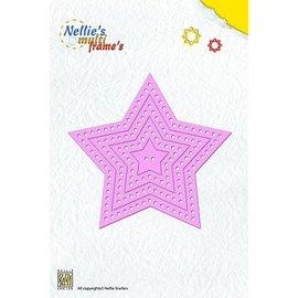 Nellie Snellen Punzonado y estampado en relieve plantillas: Marco de la estrella multi