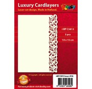 KARTEN und Zubehör / Cards Luxus Karten Layouts , 3 Stück