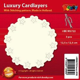 KARTEN und Zubehör / Cards Luxe kaart lay-outs voor borduurwerk, 3 stuks
