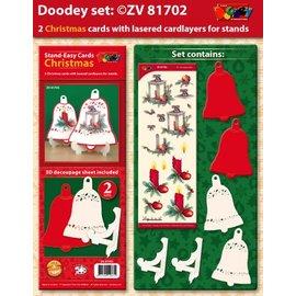 BASTELSETS / CRAFT KITS Exclusivas Bastelset para 2 tarjetas de Navidad titular de la tarjeta +