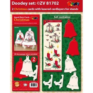 BASTELSETS / CRAFT KITS Exclusives Bastelset voor 2 kerstkaarten + kaarthouder