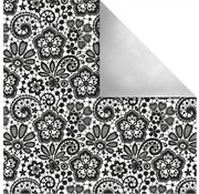 Designer Papier Scrapbooking: 30,5 x 30,5 cm Papier Design paper Paris, Retro Flowers
