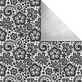 Designer Papier Scrapbooking: 30,5 x 30,5 cm Papier Designpapier Paris, Retro Blumen