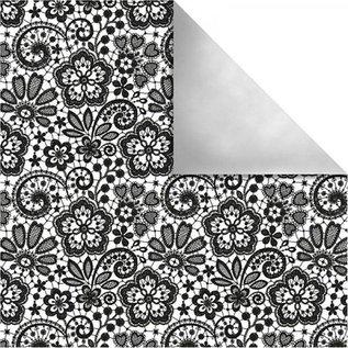 Designer Papier Scrapbooking: 30,5 x 30,5 cm Papier Ontwerpers papier Parijs, Retro Bloemen