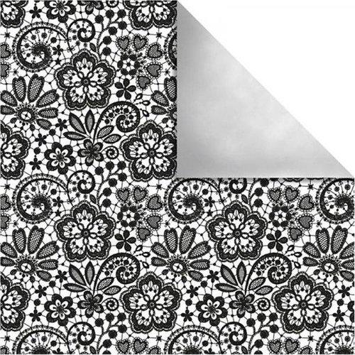 Designer Papier Scrapbooking: 30,5 x 30,5 cm Papier Design papir Paris, Retro Blomster
