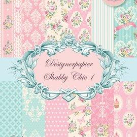 Vintage, Nostalgia und Shabby Shic Elegante lamentable Designerpapierset