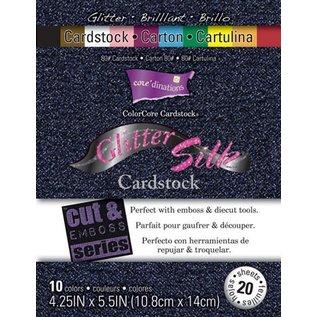 Karten und Scrapbooking Papier, Papier blöcke Colorcore kartong Glitter