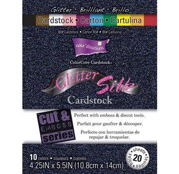 Karten und Scrapbooking Papier, Papier blöcke Colorcore cartoncino Glitter