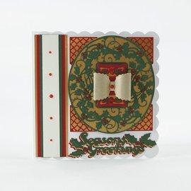 Tonic Studio´s stampaggio e goffratura stencil: cornice decorativa di Natale