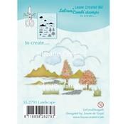 Leane Creatief - Lea'bilities und By Lene Transparent stempel: Autumn Scene, Slot