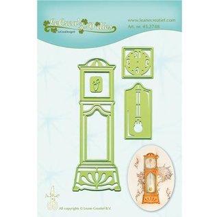 Leane Creatief - Lea'bilities und By Lene Ponsen en embossing sjabloon: Staand horloge