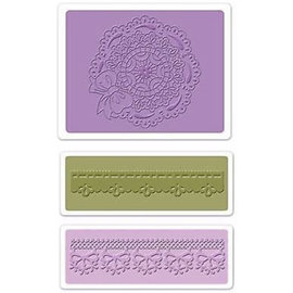 embossing Präge Folder Goffratura cartelle: Pettine Circle Doily Set