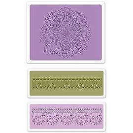 embossing Präge Folder Gofrado carpetas: la concha de peregrino del círculo tapete Conjunto
