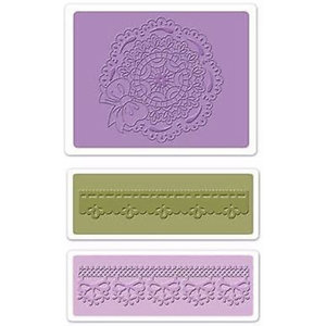 embossing Präge Folder Embossing mappen: Scallop Circle Doily Set