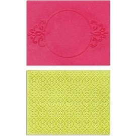 embossing Präge Folder Embossing folders: Circle Frame & Spark Lina Set