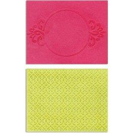 embossing Präge Folder Gofrado carpetas: marco del círculo y Spark Lina Set