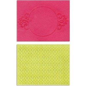 embossing Präge Folder Embossing folders: Circle Frame & Spark Lina Set