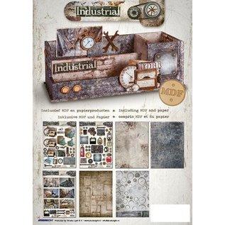 MDF Desk arrangør inkl. Papir Industrial