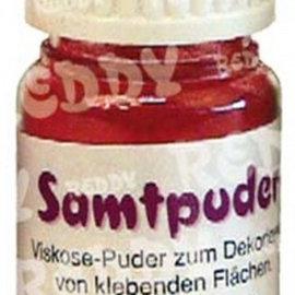 BASTELZUBEHÖR, WERKZEUG UND AUFBEWAHRUNG Samtpuder, Fläschchen mit 25 ml, rot