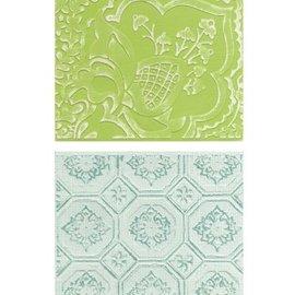 embossing Präge Folder Gofrado carpetas: Free Spirit Florals Conjunto
