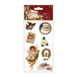 STICKER / AUTOCOLLANT 3D Stickers jul, victorianske jul