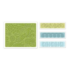 embossing Präge Folder Embossing mappen: Bohemian Botanicals Set